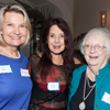 President, Deb Weir; Hostess, Arlene Mark; and Past president, Joyce French