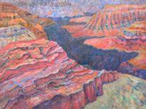 Connie Newton Stancell's painting, Canyon Rhythms II